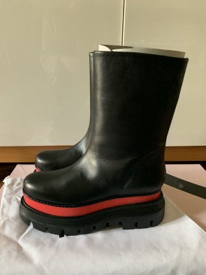 MSGM Combat Boots multicolored leather