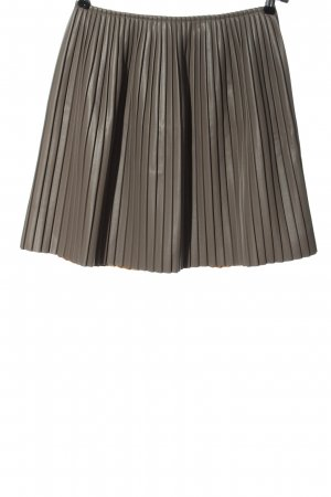 MSGM Plaid Skirt light grey striped pattern elegant