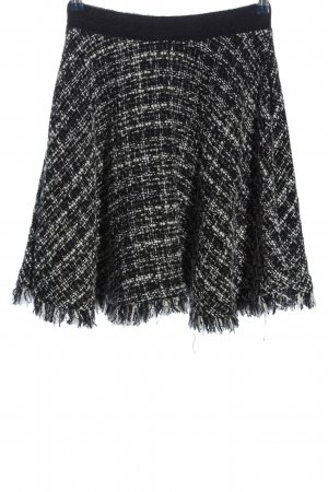 MSGM Flared Skirt check pattern casual look