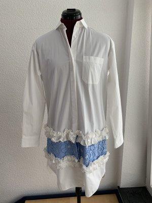 MSGM Vestido tipo blusón blanco-azul aciano