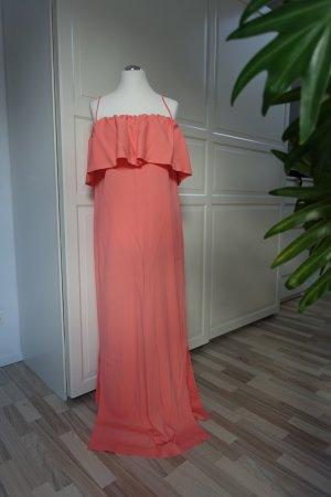 MSGM Kleid, Traumkleid in korall-rot, super auffallende Farbe, langes Abendkleid, Gr. ital. 46 oder EUR 40/42