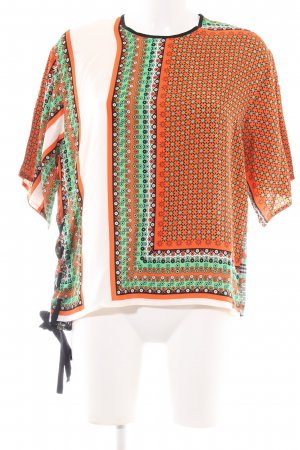 MSGM Kurzarm-Bluse Allover-Druck Business-Look