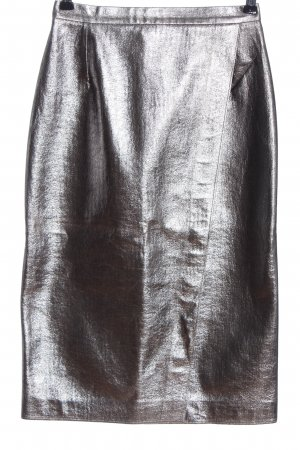 MSGM Midirock silberfarben Elegant