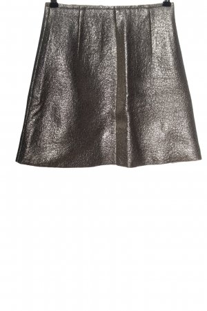 MSGM Miniskirt silver-colored casual look
