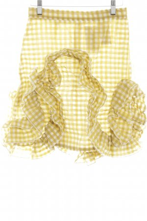 MSGM Miniskirt primrose-white check pattern casual look