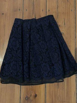MSGM Falda de encaje azul oscuro