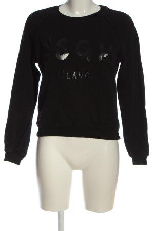 MSGM Sweatshirt schwarz Schriftzug gedruckt Casual-Look