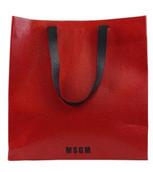 MSGM Tragetasche in Rot aus Leder