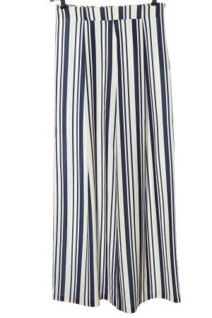 MTWTFSSWEEKDAY Baggy Pants weiß-blau Streifenmuster Casual-Look