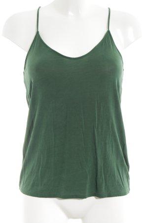 MTWTFSSWEEKDAY Basic Top grün Casual-Look