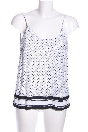 MTWTFSSWEEKDAY Camisole weiß-schwarz Allover-Druck Casual-Look