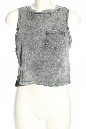 MTWTFSSWEEKDAY Cropped Top hellgrau Allover-Druck Casual-Look