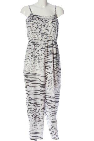 MTWTFSSWEEKDAY Jumpsuit weiß-schwarz abstraktes Muster Casual-Look
