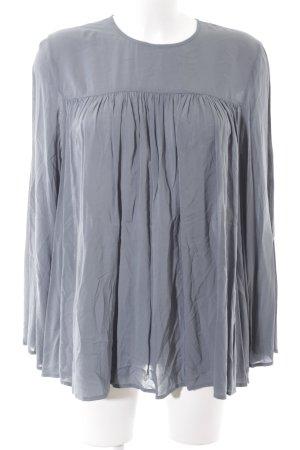 MTWTFSSWEEKDAY Langarm-Bluse blassblau Casual-Look