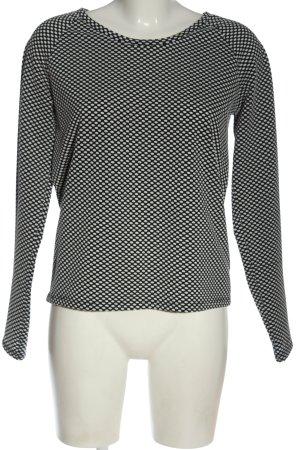 MTWTFSSWEEKDAY Langarm-Bluse schwarz-weiß Allover-Druck Casual-Look