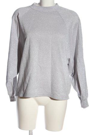 MTWTFSSWEEKDAY Langarm-Bluse hellgrau Casual-Look