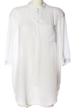 MTWTFSSWEEKDAY Langarm-Bluse weiß Casual-Look
