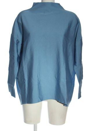 MTWTFSSWEEKDAY Langarm-Bluse blau Casual-Look