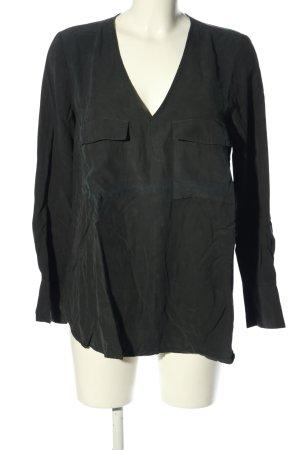 MTWTFSSWEEKDAY Langarm-Bluse hellgrau Business-Look