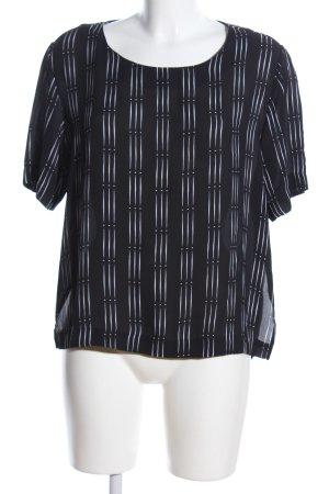 MTWTFSSWEEKDAY Oversized Bluse schwarz-weiß Streifenmuster Casual-Look