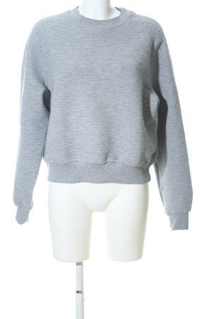 MTWTFSSWEEKDAY Oversized Pullover hellgrau meliert Casual-Look