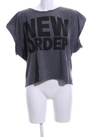 MTWTFSSWEEKDAY Oversized Shirt hellgrau-schwarz meliert Casual-Look