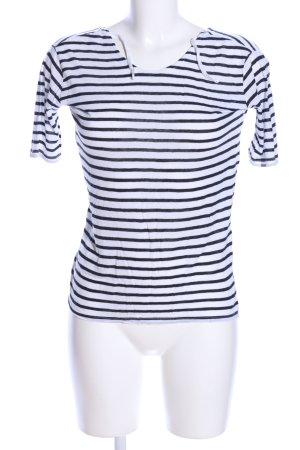 MTWTFSSWEEKDAY Ringelshirt schwarz-weiß Streifenmuster Casual-Look