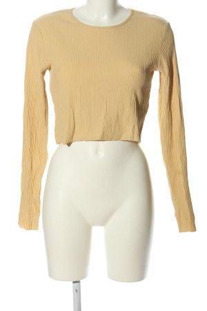 MTWTFSSWEEKDAY Prążkowana koszulka bladożółty W stylu casual