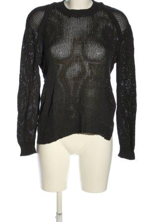 MTWTFSSWEEKDAY Strickpullover schwarz Elegant