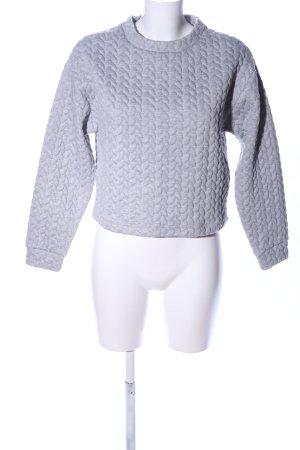 MTWTFSSWEEKDAY Sweatshirt hellgrau meliert Casual-Look