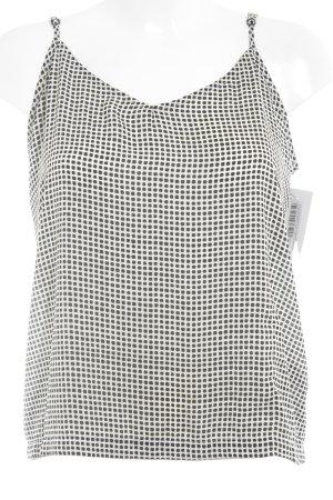MTWTFSSWEEKDAY Trägertop schwarz-weiß Punktemuster Casual-Look