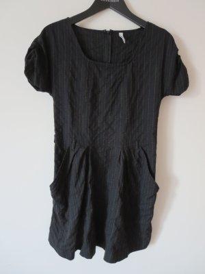 Robe en laine noir-marron clair laine