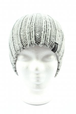 much more Knitted Hat light grey cable stitch casual look