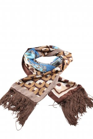 Mucho Gusto Fringed Scarf graphic pattern business style