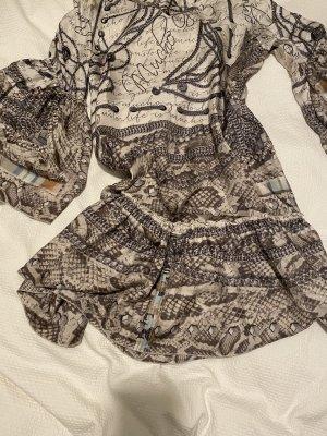 Robe tunique multicolore soie