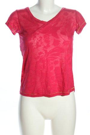 Mudo FTS64 V-Ausschnitt-Shirt rot Casual-Look