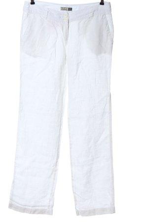 Mudo Pantalon en lin blanc style décontracté