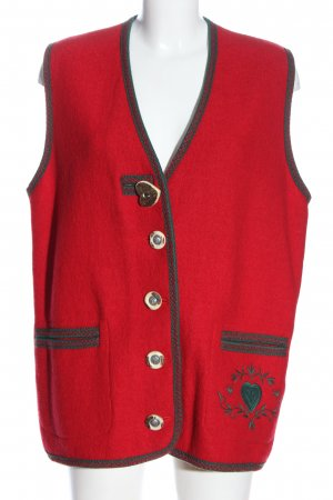 Münchner Strickmoden Traditional Vest red themed print classic style
