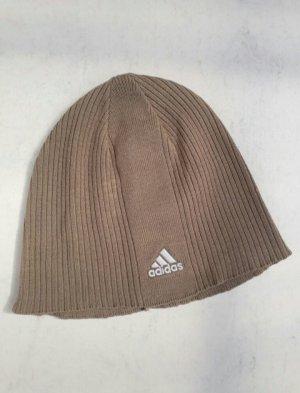 Adidas Cappello a maglia marrone-grigio