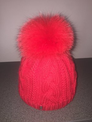 Mc Burn Bonnet à pompon rouge