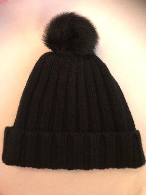 Massimo Dutti Knitted Hat black