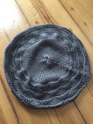 H&M Cappello a maglia grigio-marrone-grigio