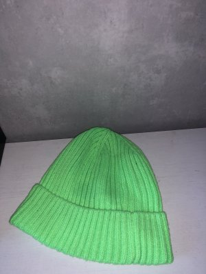 Knitted Hat neon green