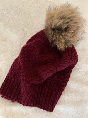 Darling Harbour Chapeau en tricot bordeau