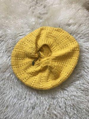 Pieces Cappello a maglia giallo-oro