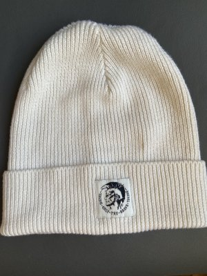 Diesel Knitted Hat natural white