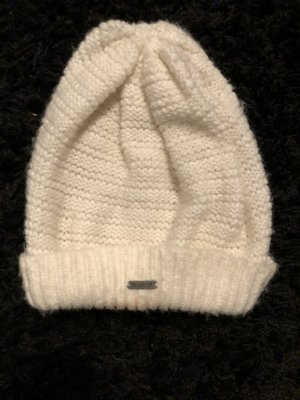 Hollister Cappello all'uncinetto bianco
