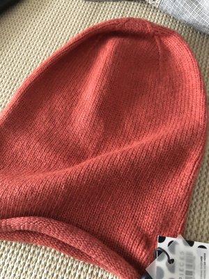 Pieces Sombrero de punto rojo ladrillo