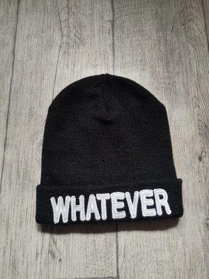 Tally Weijl Sombrero de punto blanco-negro