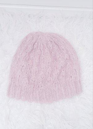 H&M Cappello a maglia rosa pallido-rosa chiaro